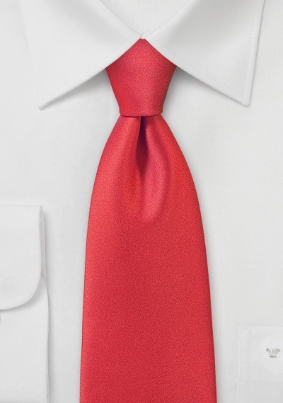 Poppy Red Mens Necktie
