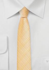 Trendy Skinny Tie in Golden Peach