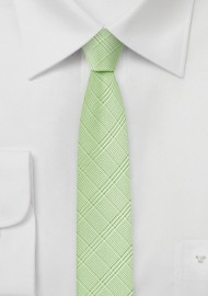 Skinny Plaid Tie in Sap Green