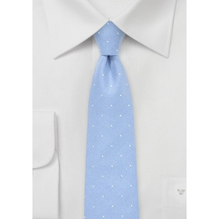 Summer Cotton Tie in Chambray Blue