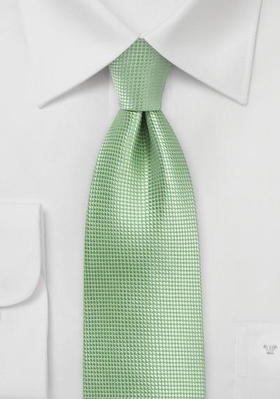 Textured Necktie in Laurel Green