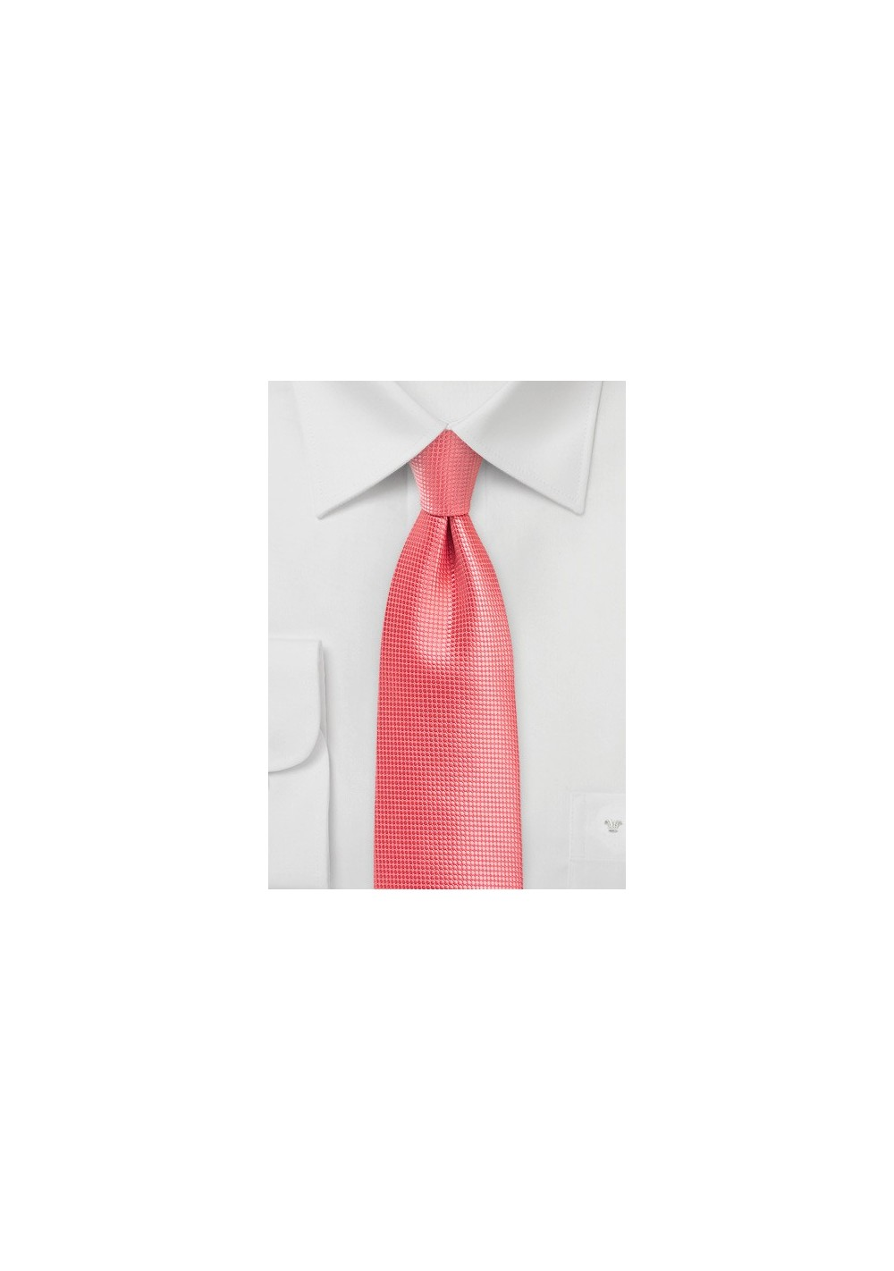 Textured Tie in Georgia Peach