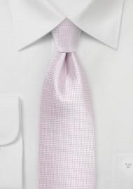Solid Textured Tie in Pink Mist