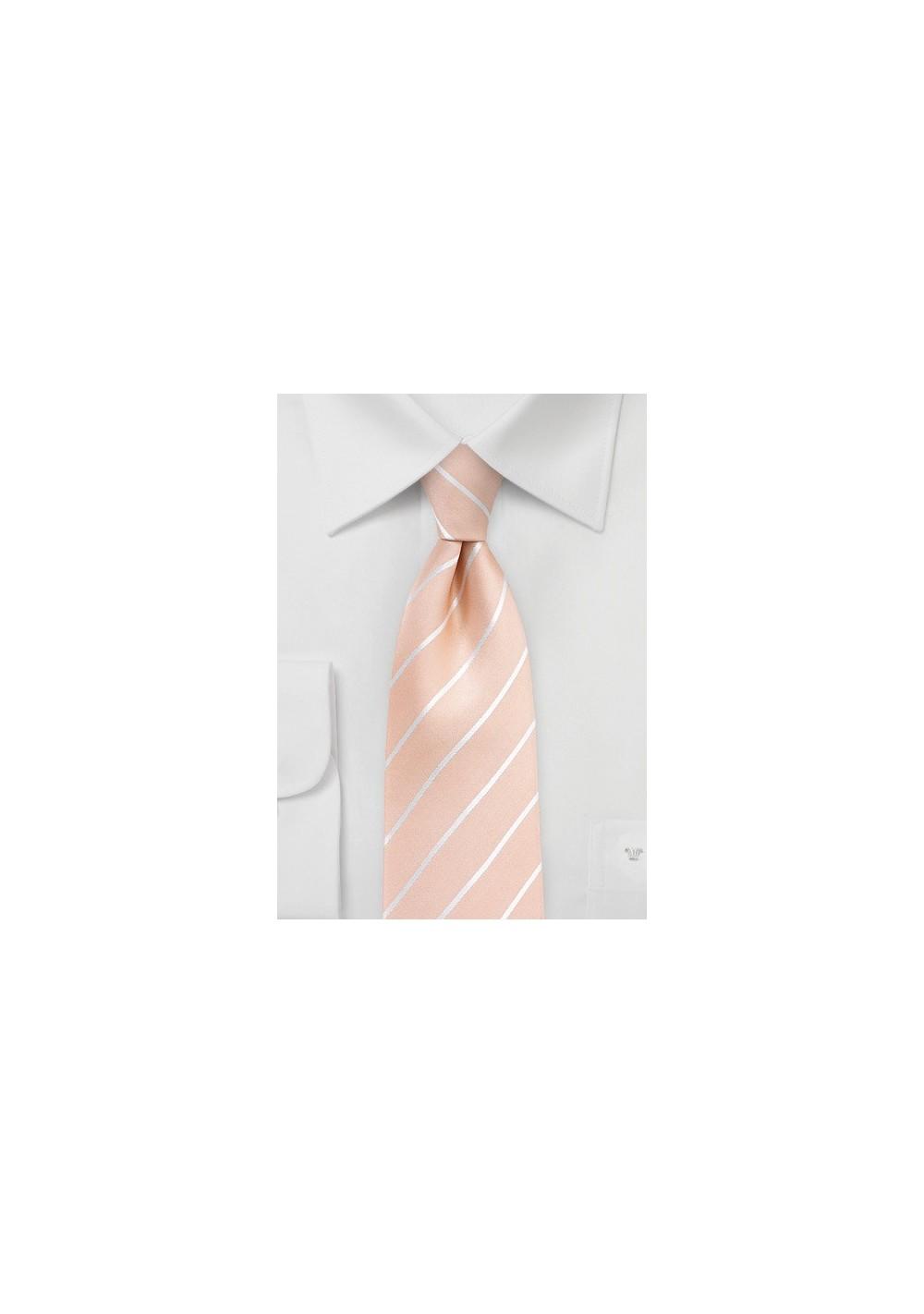 Nude Colored Silk Tie