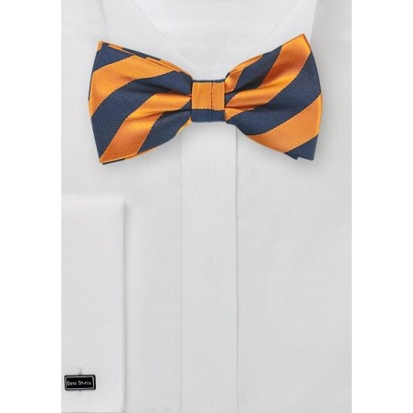 Orange and Navy Bow Tie for Kids