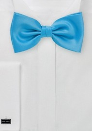 Cyan Blue Bow Tie for Kids