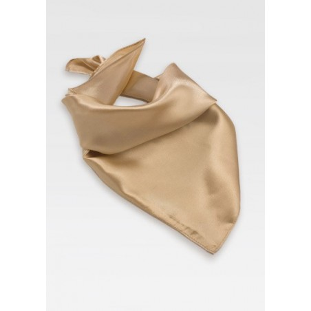 Golden Champagne Womens Scarf