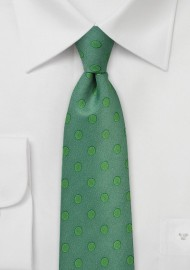 Ivy Green Polka Dot Tie