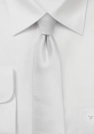 Skinny Pin Dot Tie in Bright White