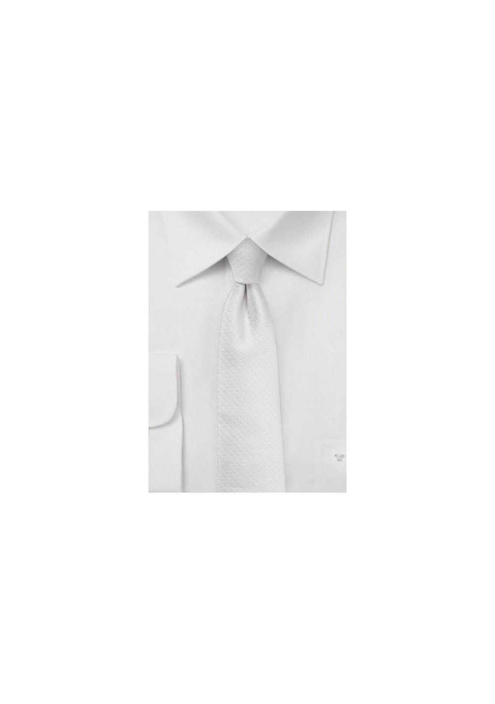 Pin Dot Tie in Formal Ivory