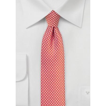 Summer Coral Pin Dot Tie