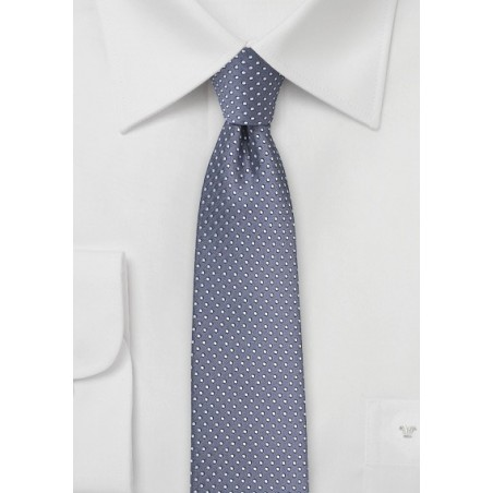 Wisteria Purple Pin Dot Tie