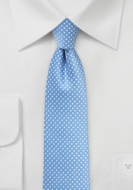 Dusty Blue Pin Dot Tie