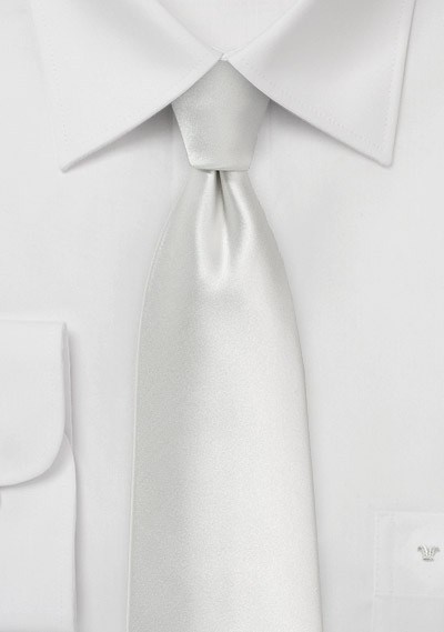 Solid Ivory Colored Mens Tie