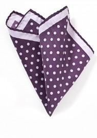 Purple and Lavender Polka Dot Pocket Square
