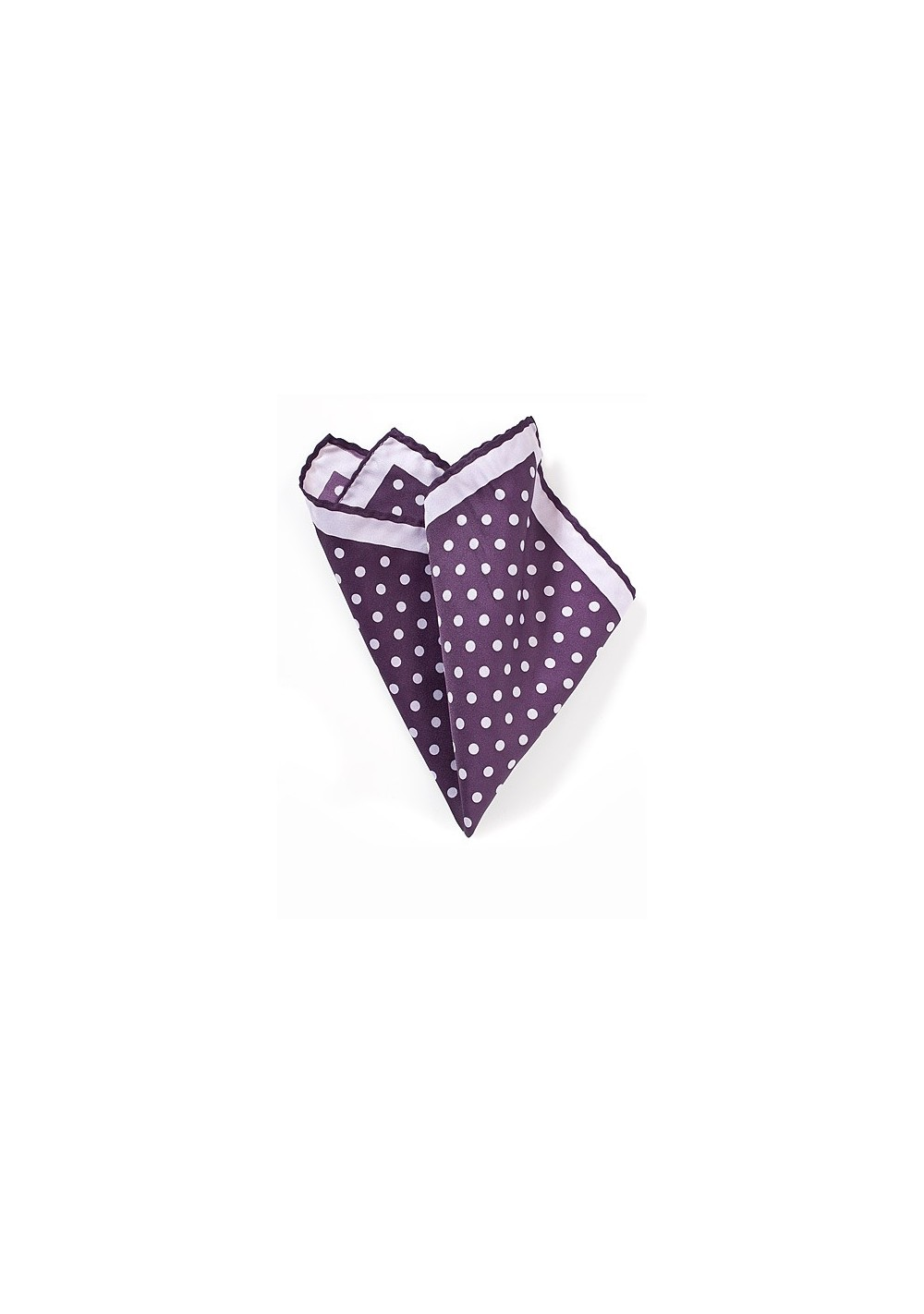 Purple and Lavender Polka Dot Pocket Square
