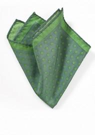Ivy Green Polka Dot Pocket Square