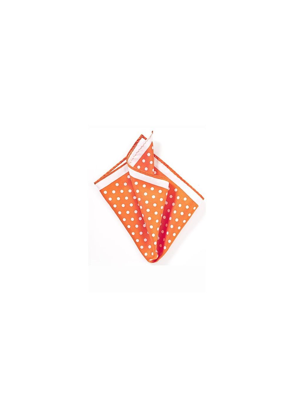Bright Orange Polka Dot Hanky