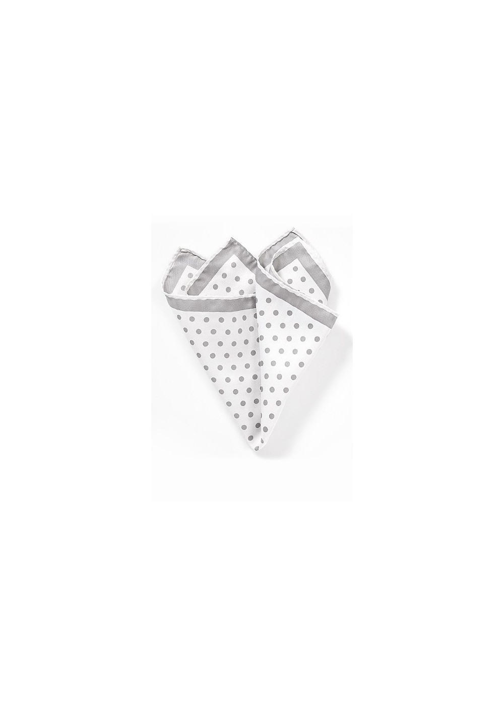 White Hanky with Silver Dots
