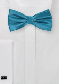 Light Teal Blue Colored Bow Tie