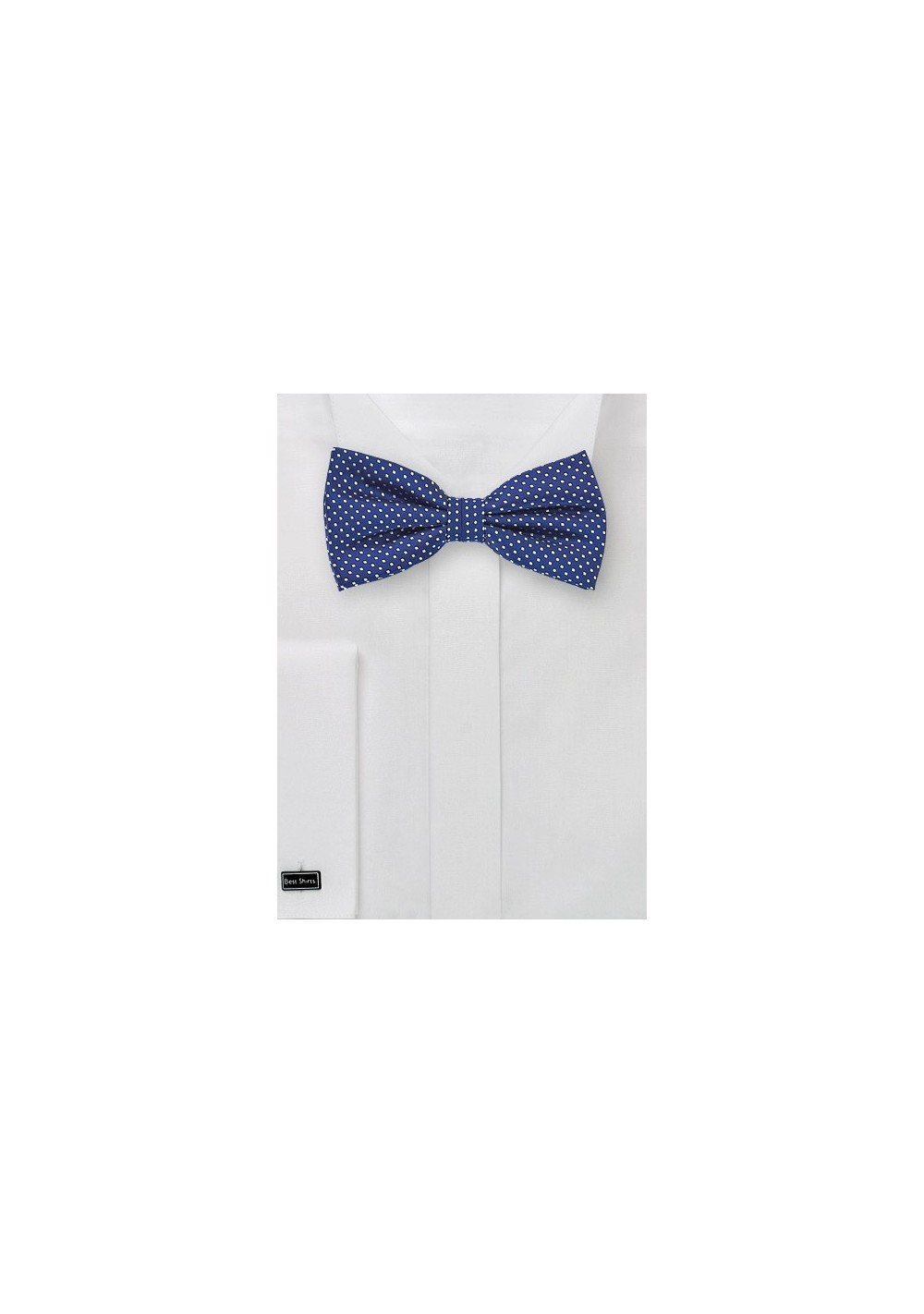 Royal Blue Bow Tie with Small Dots