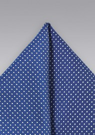 Pin Dot Pocket Square in Royal Blue