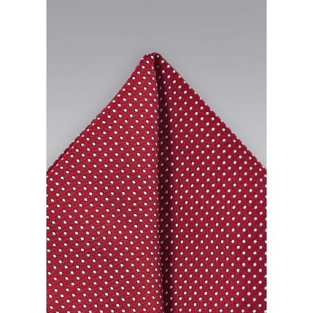 Pocket Square in Cherry Red Color