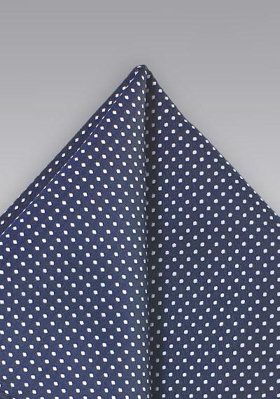 Navy Blue Pin Dot Pocket Square
