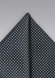 Black and Silver Pocket Square
