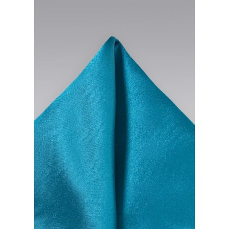 Peacock Blue Pocket Square