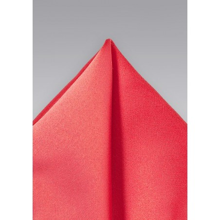 Neon Coral Colored Pocket Square