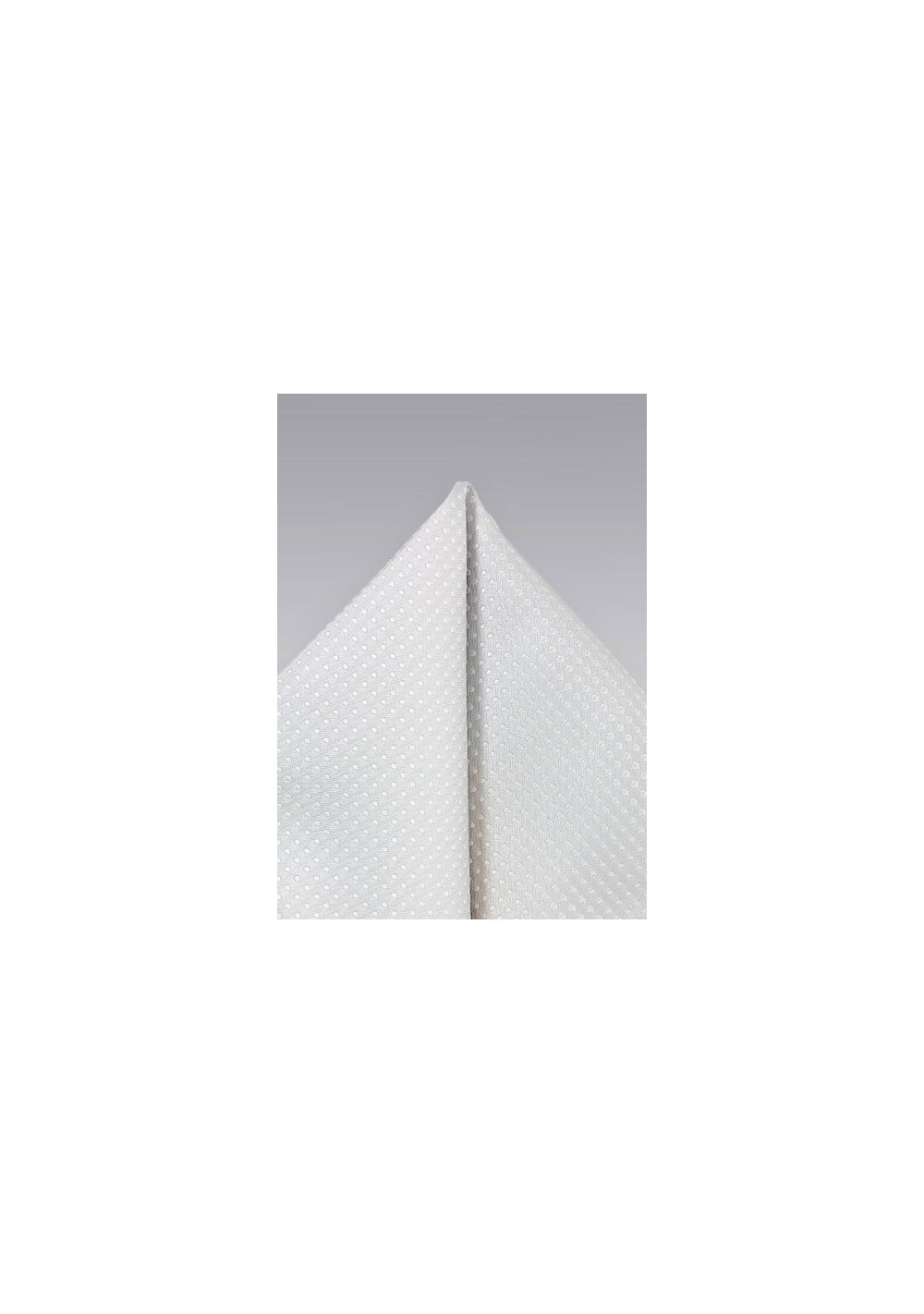 Ivory Pocket Square with Dots