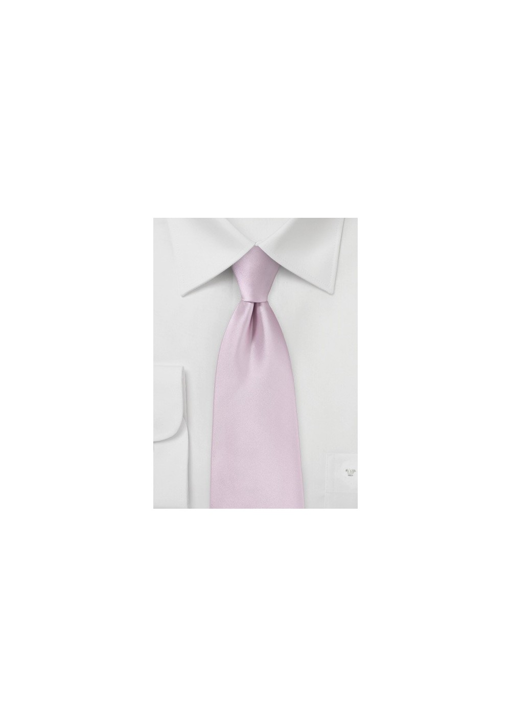 Soft Lilac Pink Tie in XL Length