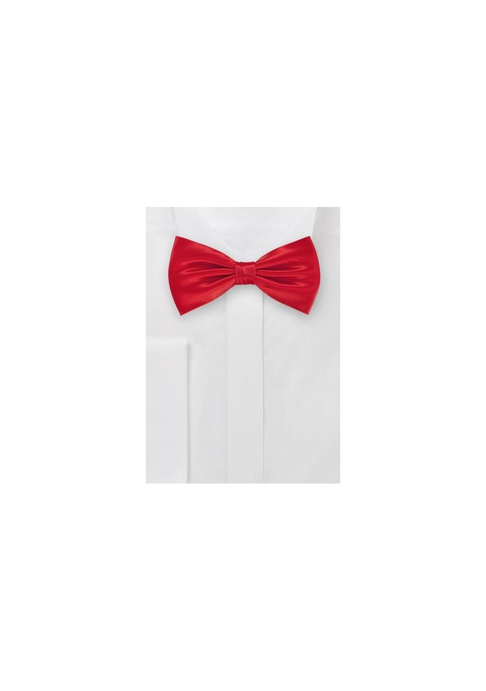 Bright Red Silk Bow Tie