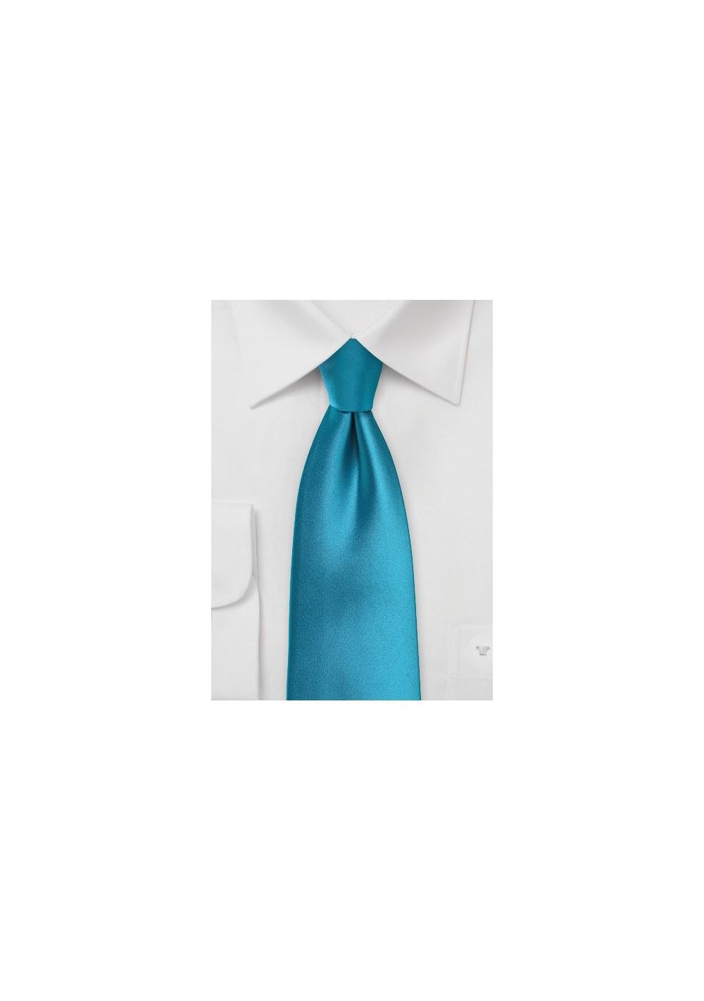 Peacock Blue Necktie in Kids Size