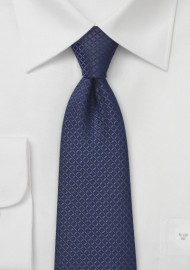 Embroidered Navy Kids Tie