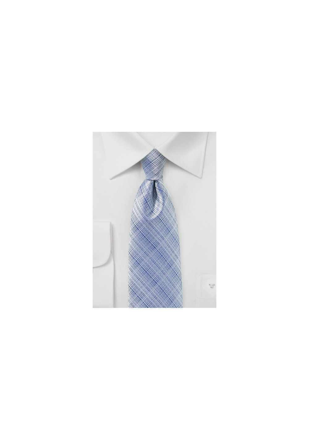 Textured Mens Tie in Kentucky Blue
