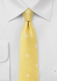 Nautical Summer Tie in Bright Yellow
