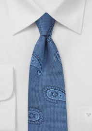 Woven Paisley Tie in Indigo