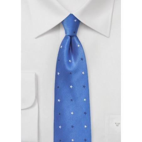 Horizon Blue Starred Skinny Tie