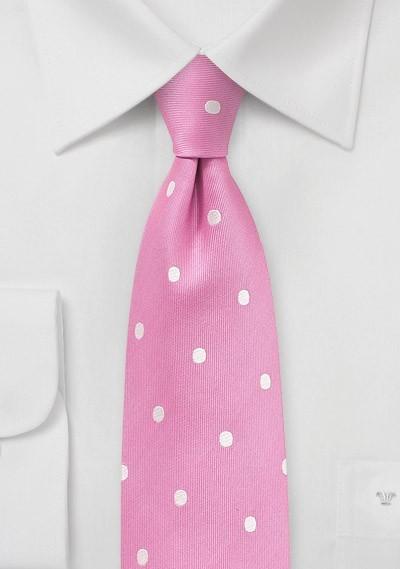 Carnation Pink Polka Dot Tie