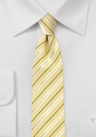 Striped Cotton Tie in Lemon
