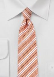Nectarine Skinny Summer Tie
