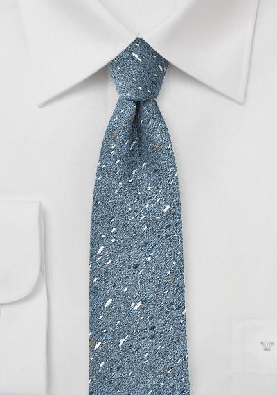 Skinny Wool Tie in Infinity Blue
