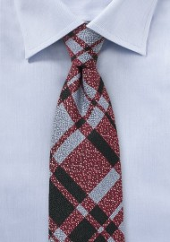 Redmond Light Blue Wool Plaid Tie