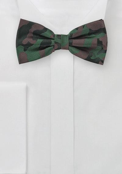 Green Camo Bow Tie