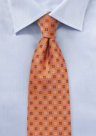 Textured Silk Tie in Amberglow Orange