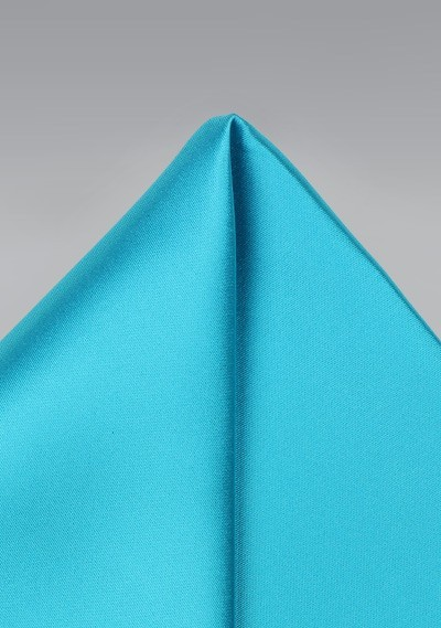 Bright Aqua Mens Pocket Square
