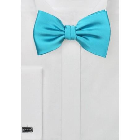 Bright Aqua Mens Bow Tie