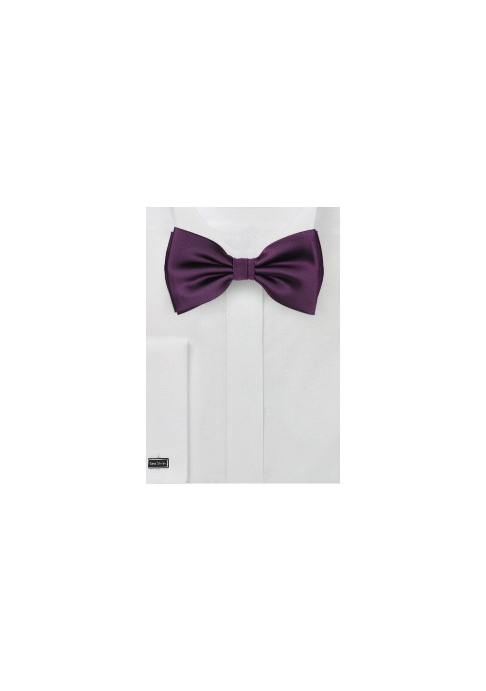 Solid Bow Tie in Berry